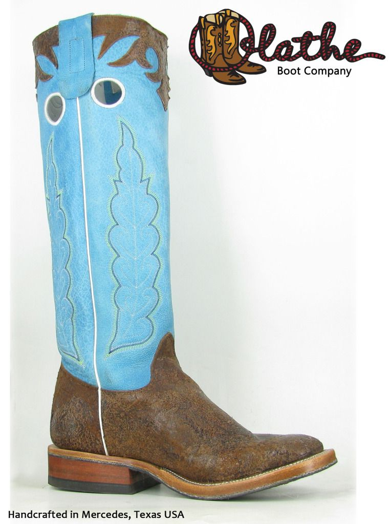20c7d6da3e6 Olathe cowboy boots - brown & blue tall tops. | Olathe Cowboy Boots ...