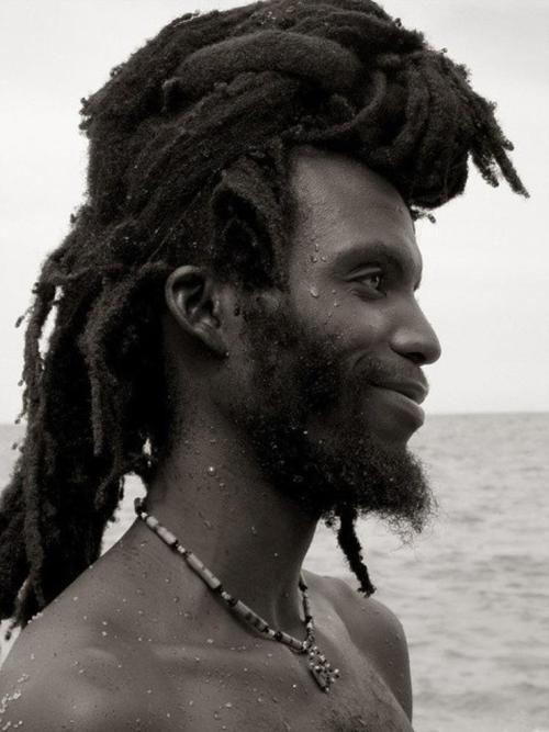Black men with long hair: Locs