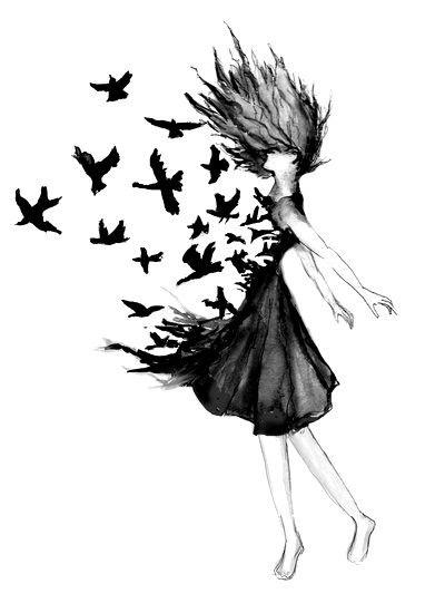 Imagem De Bird Freedom And Black Desenhos Desenhos Tumblr