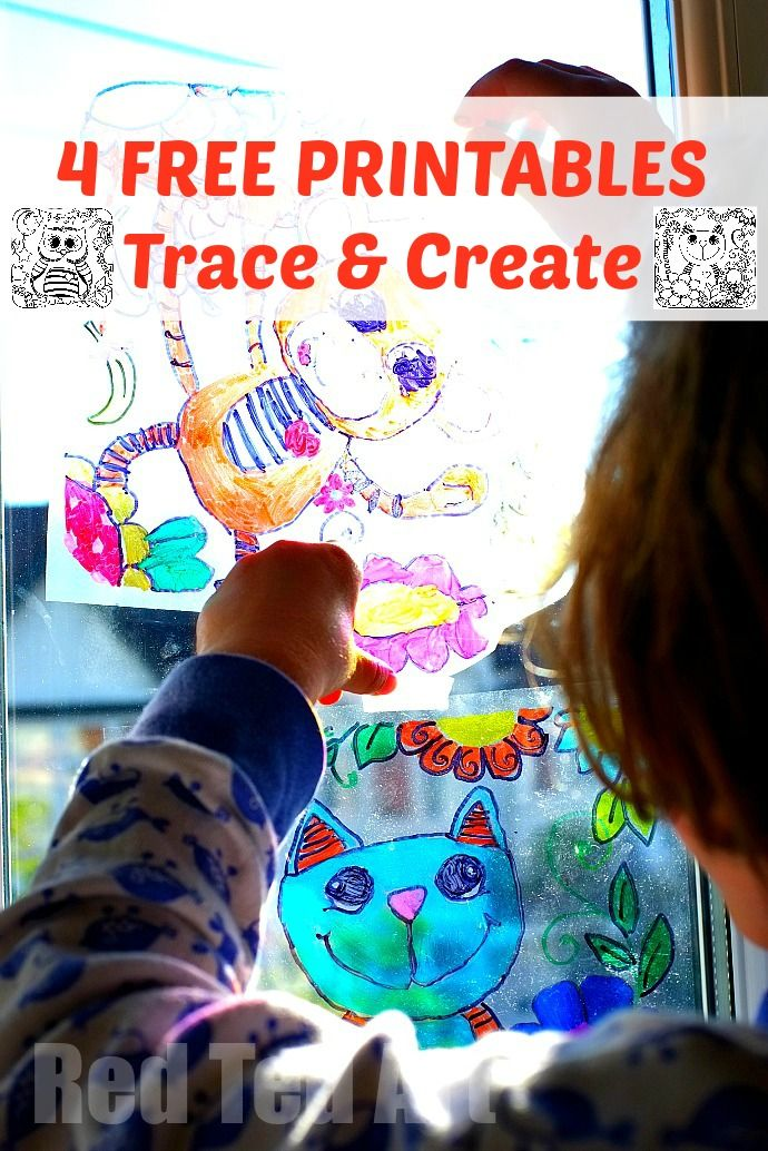 Sun Catcher Colouring Pages 4 Printable Trace Create Your Own Suncatchers Or Just Have Fun Them