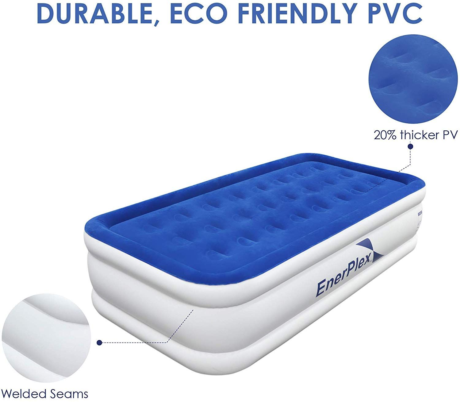 Gonex Inflatable Air Bed Single Double Size Airbed Air Mattress Upgraded Blow Up Bed With Built In Electric Pump 190 In 2020 Uk Mattress Mattress Store Blow Up Beds