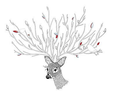 Doris Deer and Friends Art Print by Meera Lee Patel