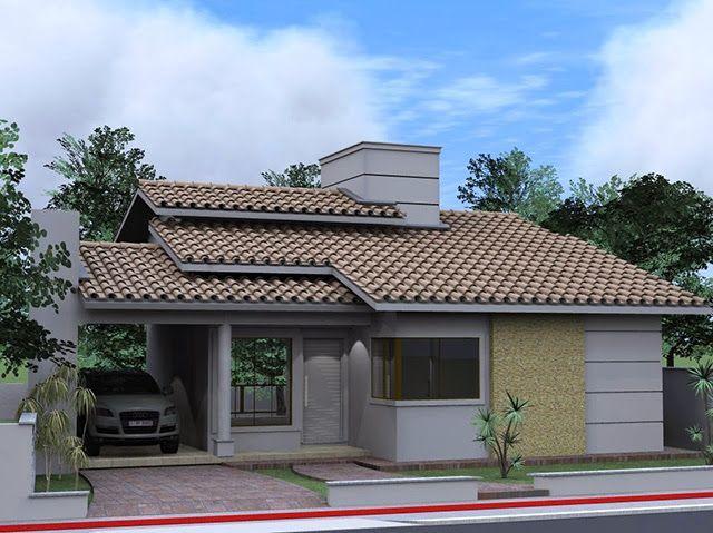 Fachadas de casas simples bonitas e pequenas casas for Fachadas de casas pequenas y bonitas
