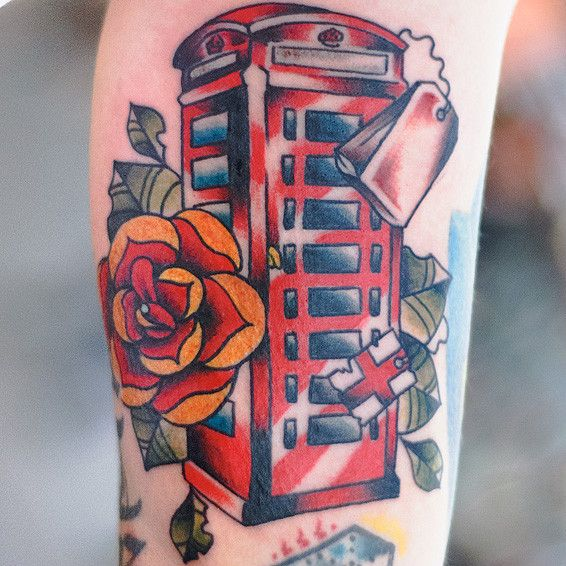 Line Drawing Tattoo London : London phone box ink inspirations pinterest tattoo