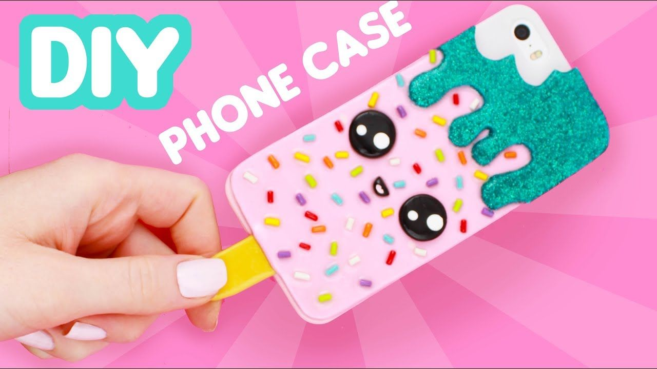 Diy Ice Cream Phone Case Clay Diy Youtube Phone Cases Diy