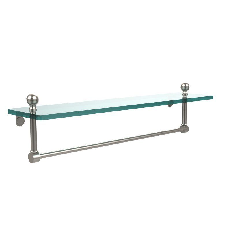 Allied Brass Mambo 22 in. Glass Vanity Shelf with Integrated Towel ...