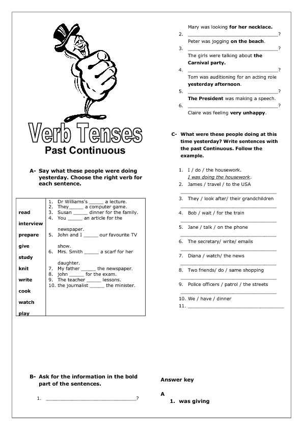Image Result For Past Continuous Tense Ingles Pinterest