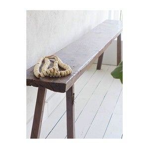 A calming spot in store, Indonesian Bench, bone beads, white floors. #livedincoogee #beachhouse #coogee #interiors #styling #indonesia #africa #coastal
