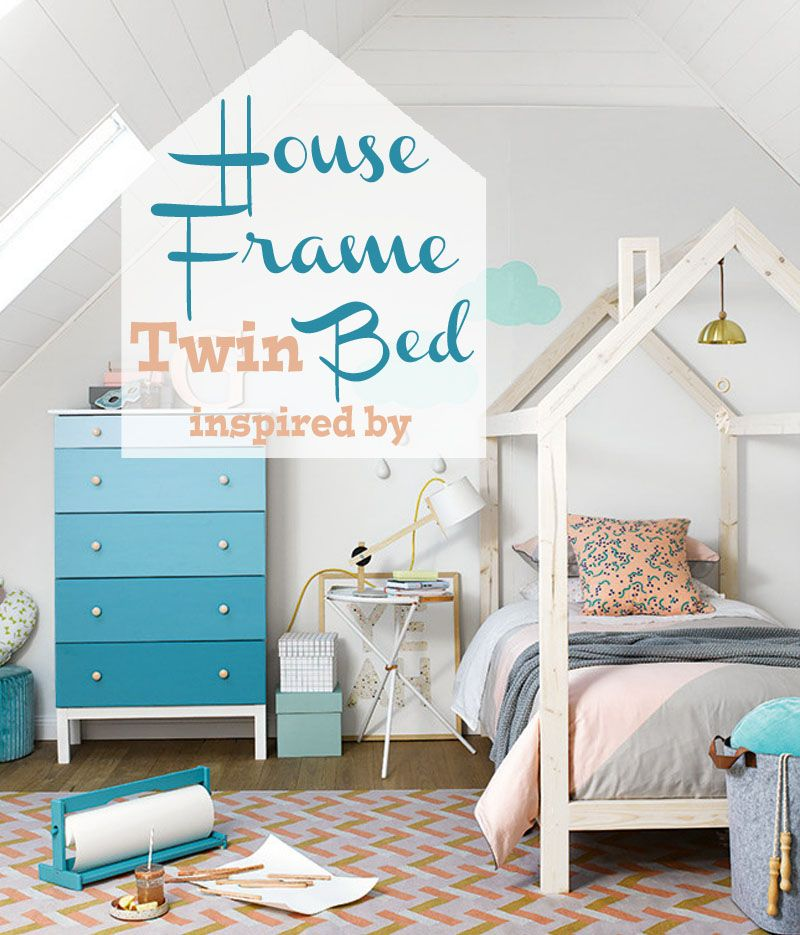 check out the easy to follow plans for this fun bedframe from amy at