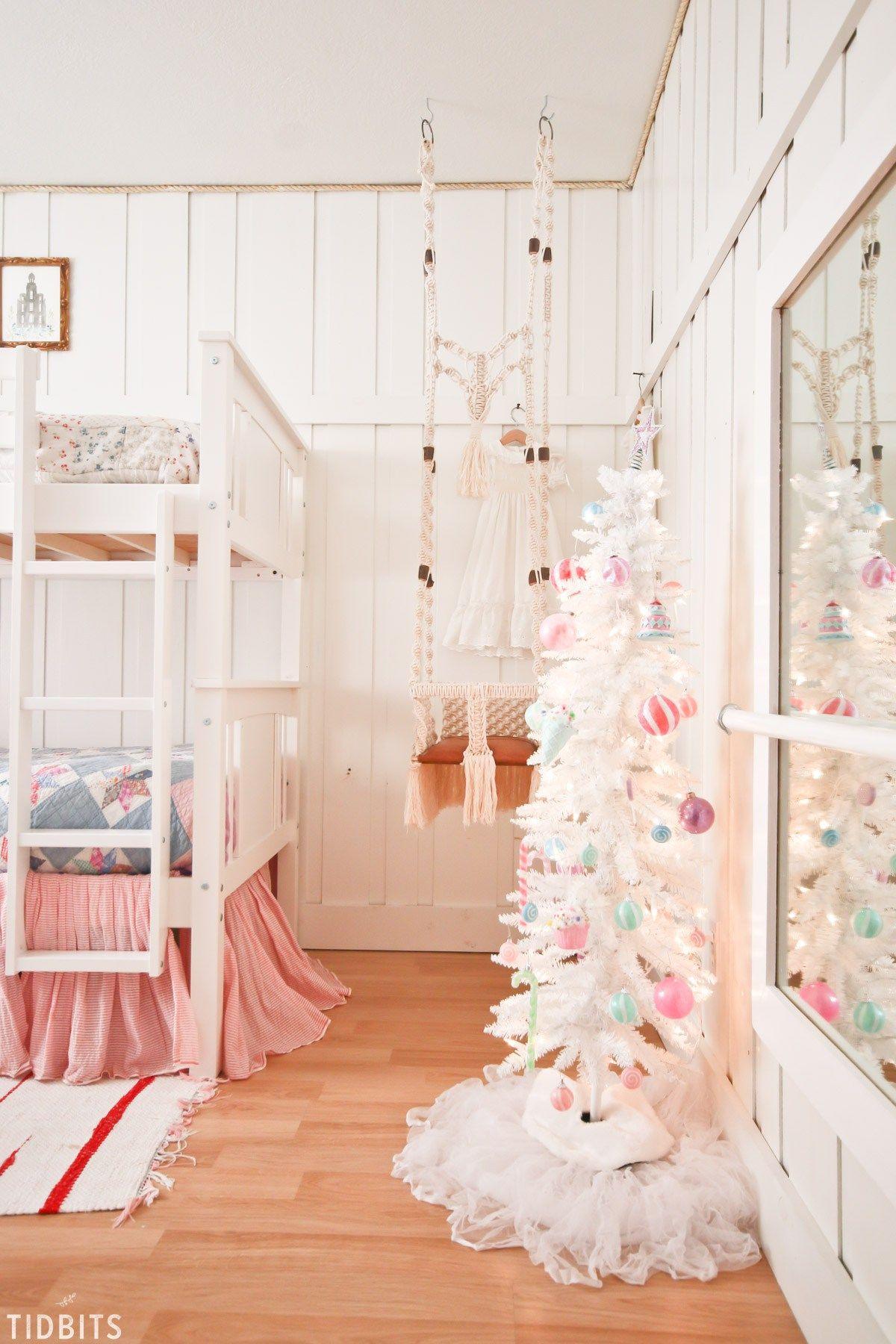 A Colorful Christmas Girls Bedroom Christmas Decorations Bedroom Christmas Bedroom Pink Christmas Decorations The girls christmas bedroom