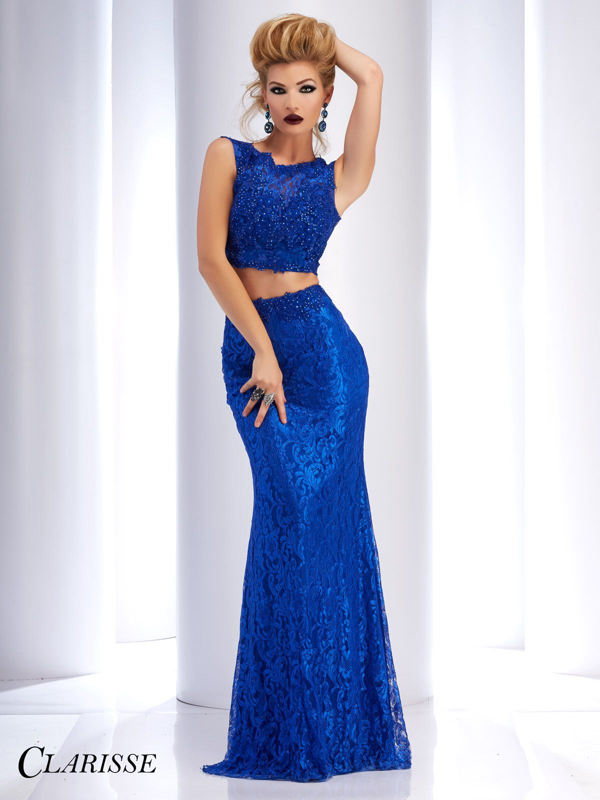 Clarisse prom royal lace twopiece prom dress eye candy