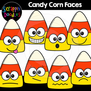 Halloween Candy Corn Faces Clipart {Scrappin Doodles