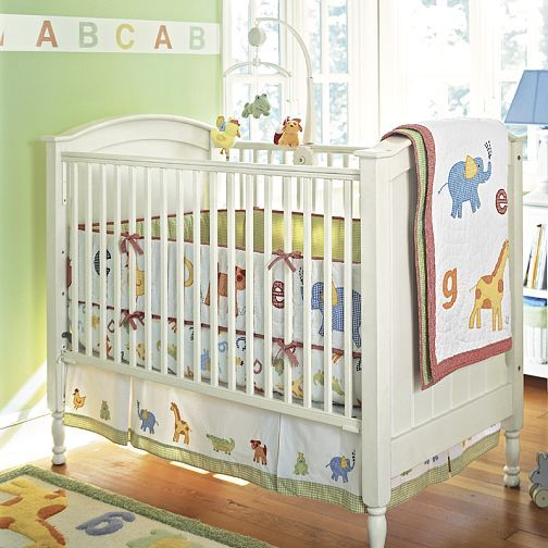 Pottery Barn Alphabet Soup Nursery Set Unisex Baby Room