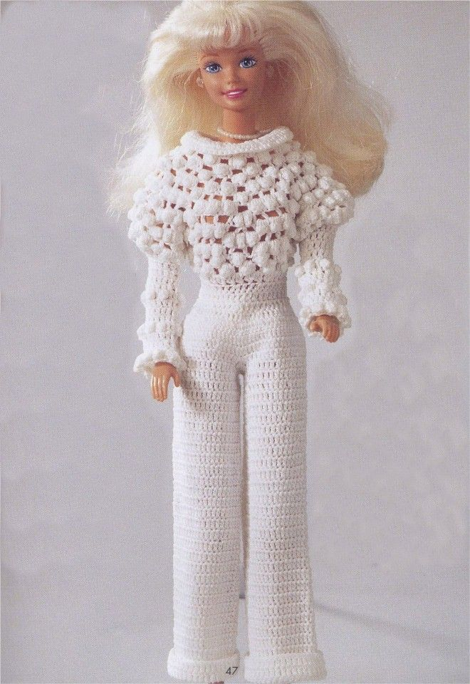 Вязаная Одежда для Кукол Барби | Crochet.vestidos para Barby ...