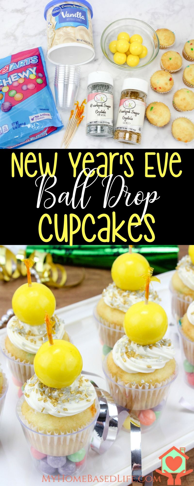 New Year's Ball Drop Cupcakes   New Year's Dessert   New ...