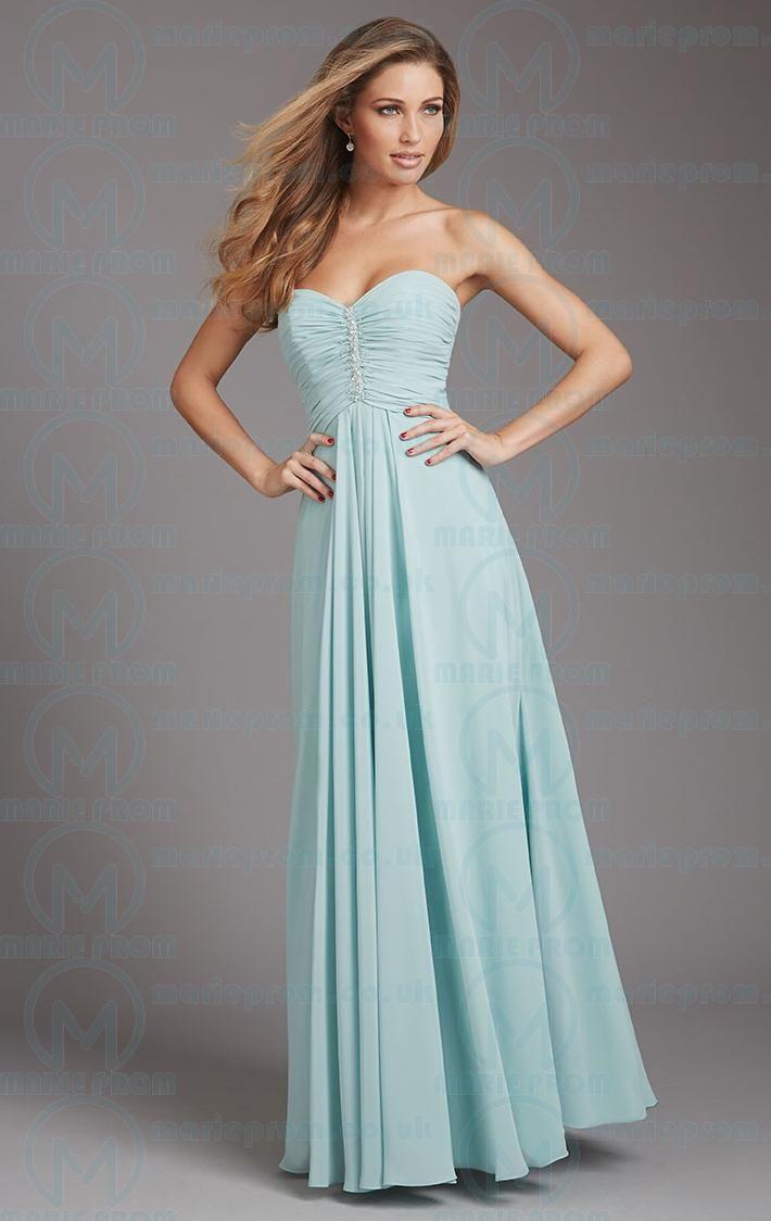 Unique long light blue tailor made evening prom dressbnnak