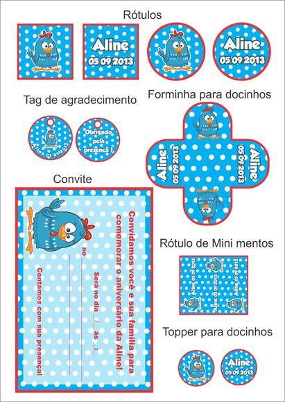 Kit Festa Para Imprimir No Tema Galinha Pintadinha Esta Kit