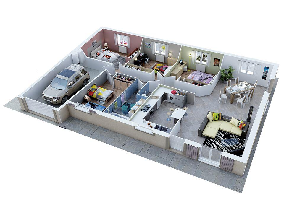 plan de maison gratuit 3d