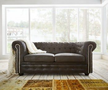 Sofa Chesterfield 160x92 Cm Anthrazit Antik Optik Bild 1 Dein Sofa