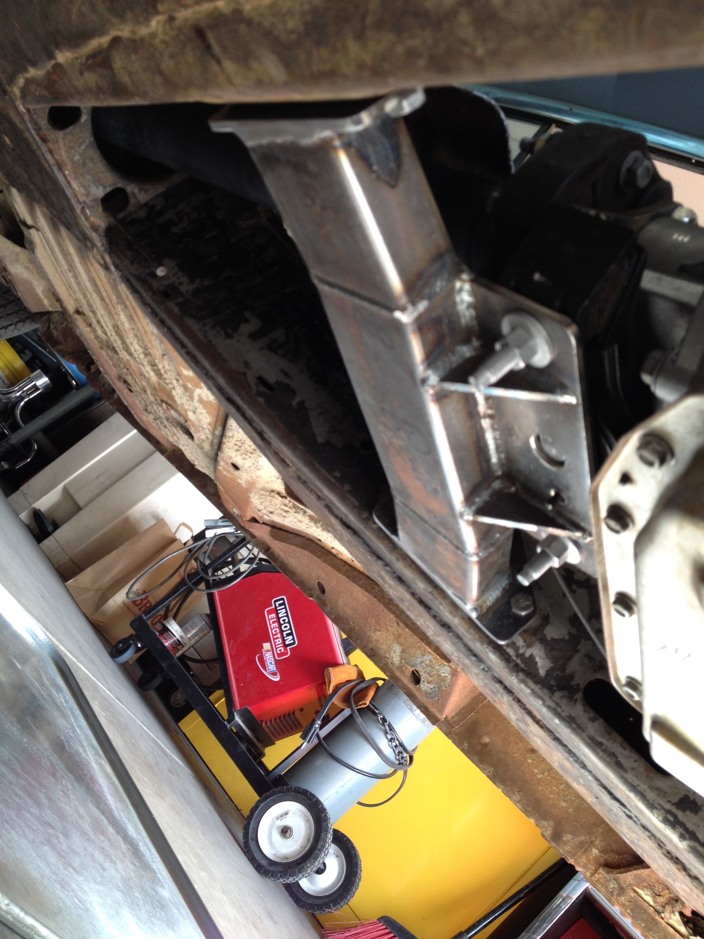 Trans mount in original frame locations - LSx 1963 Cadillac