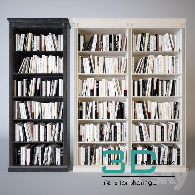79  Bookshelf 3d model - 3D Mili - Download 3D Model - Free 3D