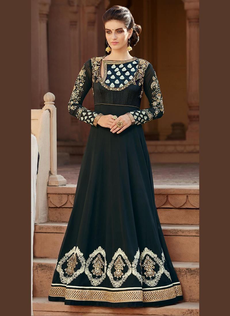 Shop for salwar kameez which will best suit you in any party we have a hand picked collection of designer salwar kameez. Buy this demure banglori silk anarkali salwar kameez.