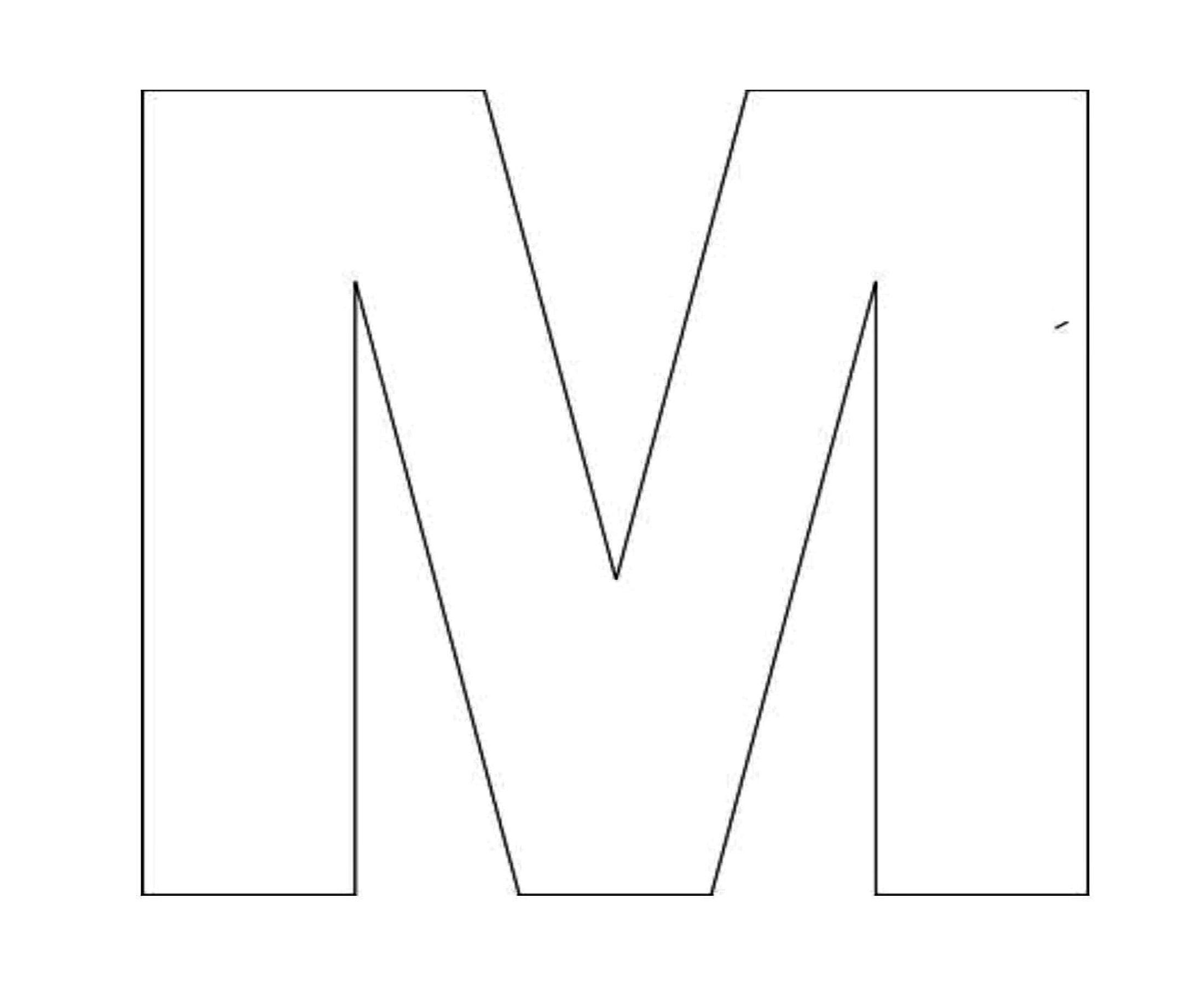 Alphabet Letter M Template For 2 200 215 1 800 Pixels