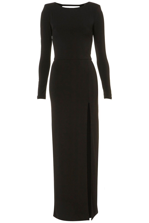 10z13cblk Topshop Usa Long Sleeve Black Maxi Dress Dresses Clothes [ 1530 x 1020 Pixel ]