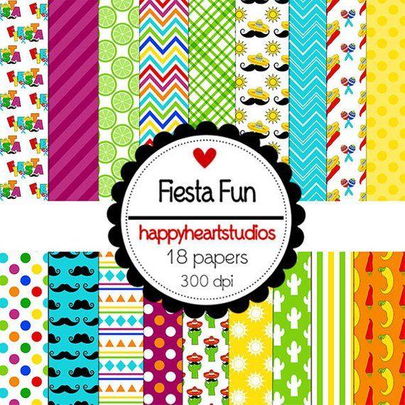 DigitalScrapbook-FiestaFun-INSTANTDOWNLOAD