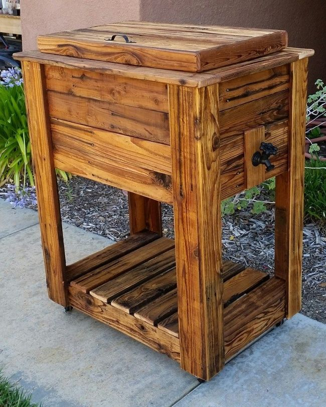Upcycled Rustic Custom Wood Coolers Upcycle Art