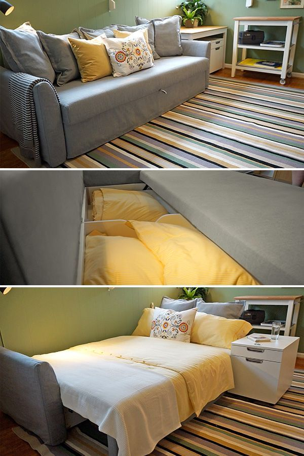 Extra Seating Or An Extra Bed Exactly When You Need It The Ikea