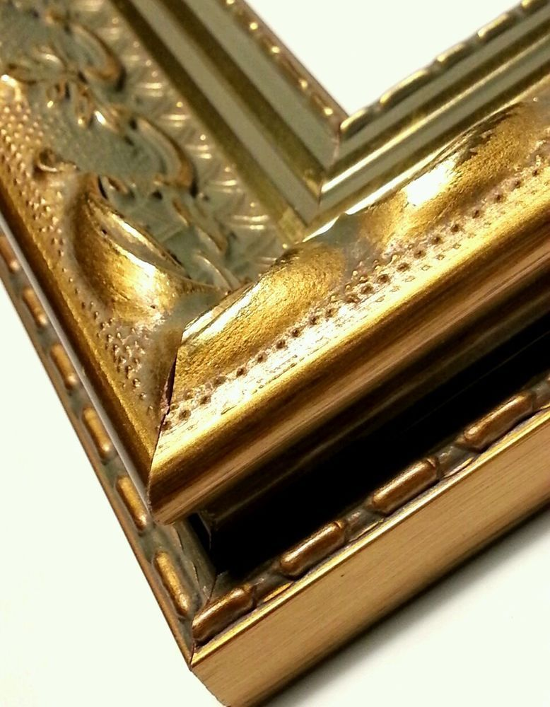 20 ft - Gold Ornate Picture Frame Moulding, Victorian, Antiqued ...
