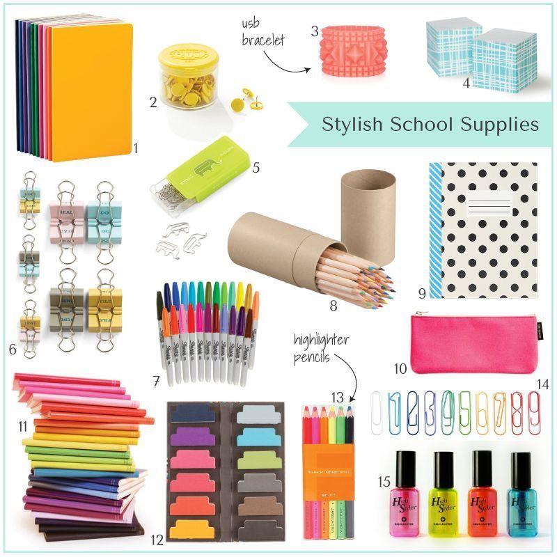 Pin by Mia Donehoo on Estudos School supplies, School