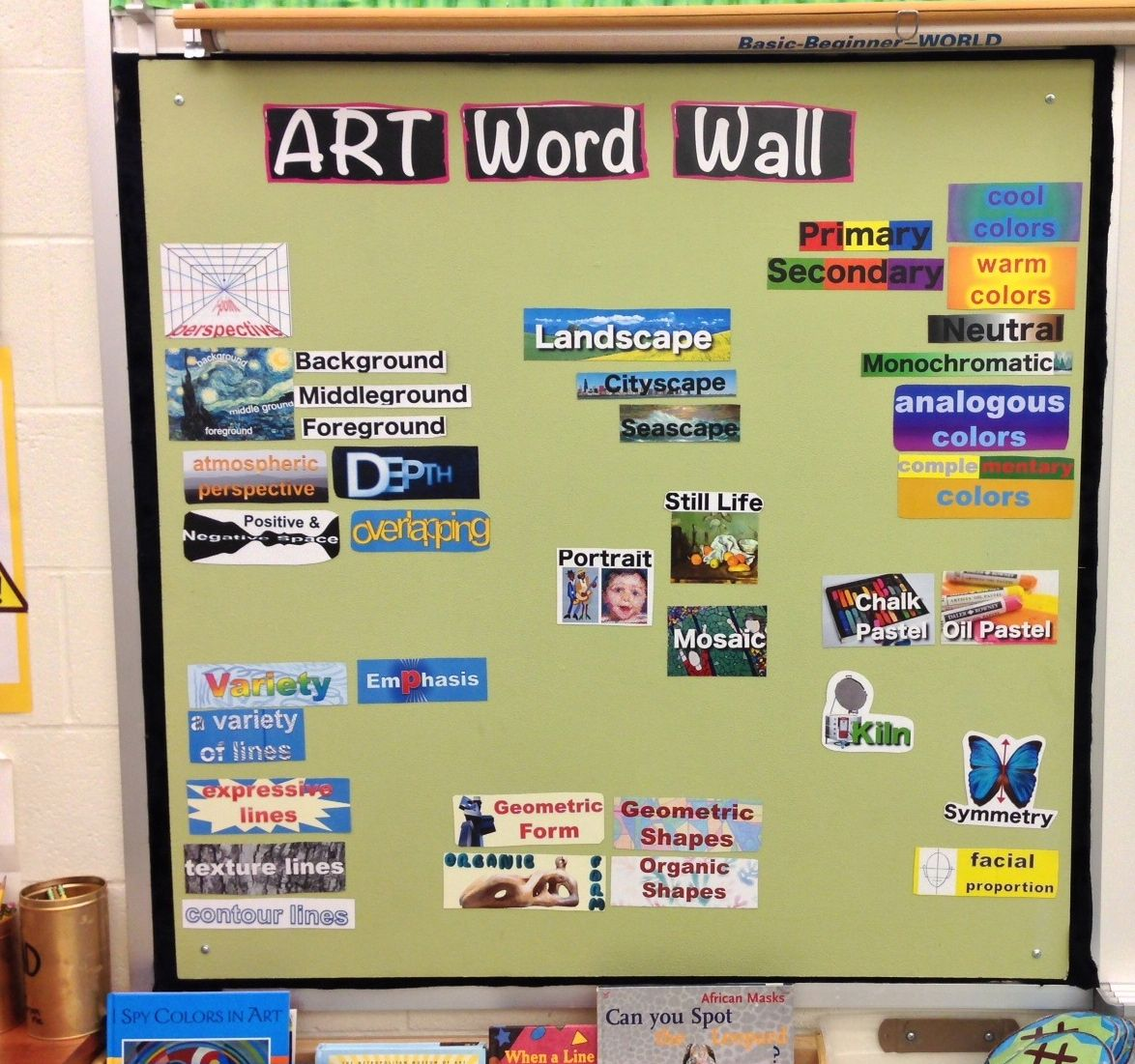 Magnetic Word Wall, uses magnetic paper, links to documents with the ...