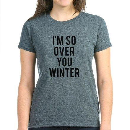 I'm So Over You Winter Tee #christmas #vacation