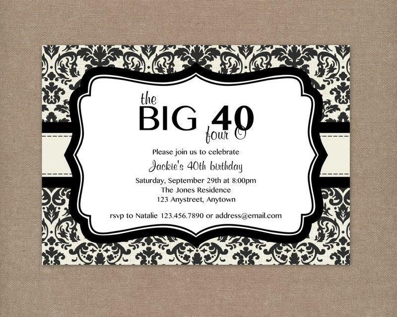 invitaciones para cumpleaños de adultos 40 años - Buscar con Google ...