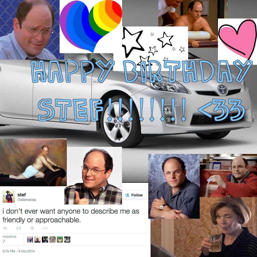 A birthday card for Stef via HAPPY BIRTHDAY STEF! LOVE, A+ AND THE INTERNET by Laura D