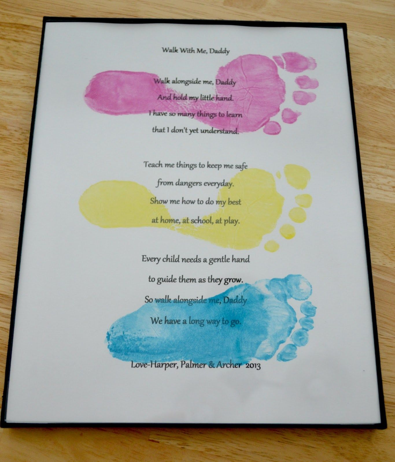 father s day cards with free printable footprints poem