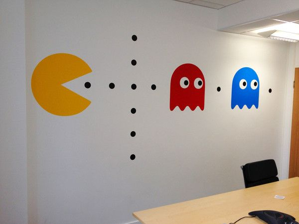 Pacman decoration artwall and co vente tableau design décoration maison succombez