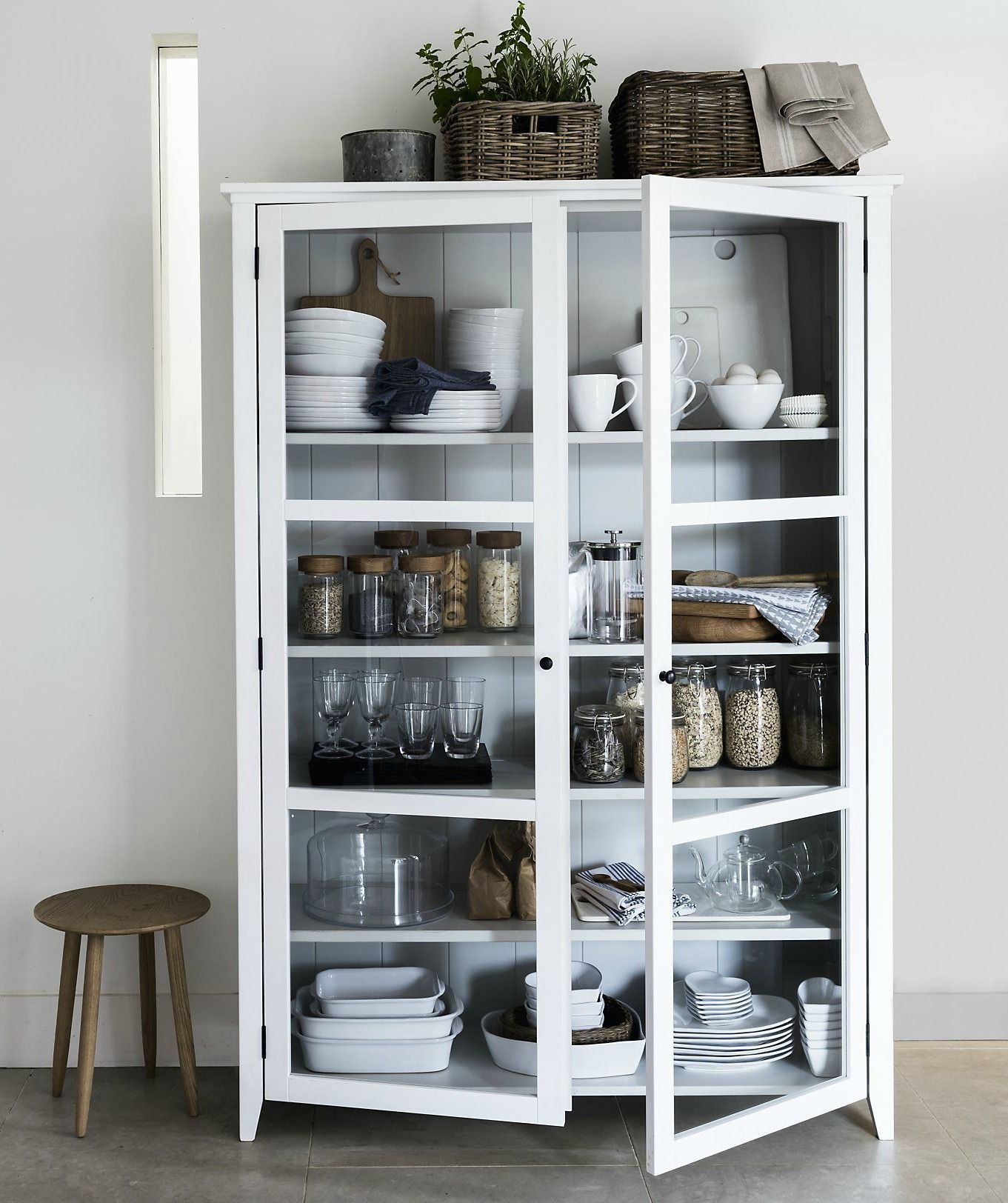 Kat Got The Cream Interiors How To Style Your Kitchen Shelves Glass Cabinets Display Kitchen Display Cabinet Cabinet Furniture