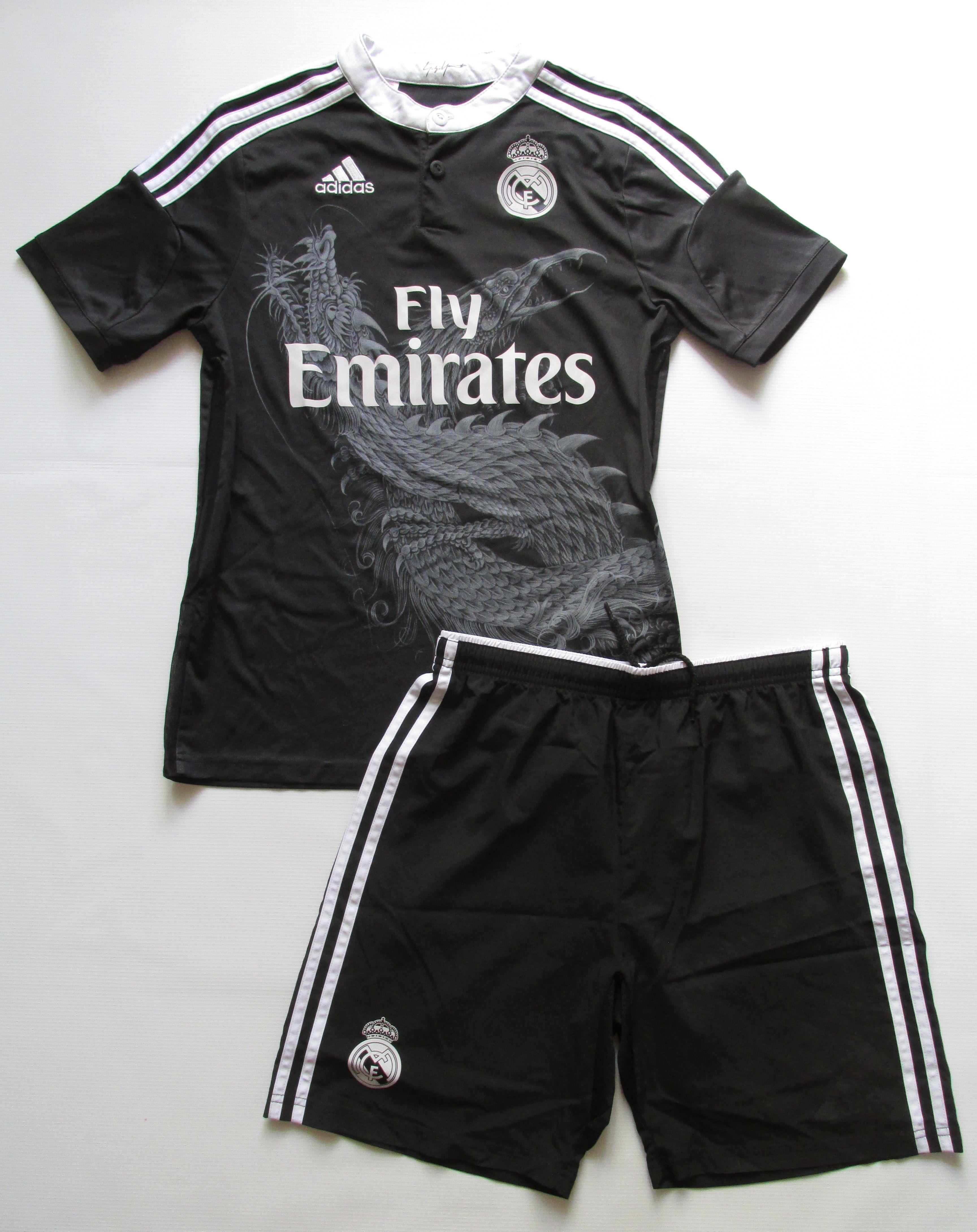0f82c12b4 Real Madrid 2014 2015 third football kit by Adidas   Yohji Yamamoto Spain  footballshirt jersey