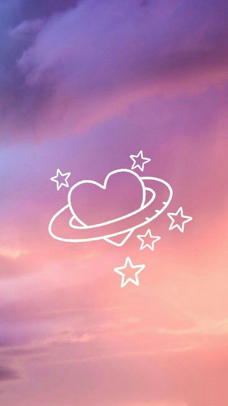 Wallpaper Tumblr Papel De Parede Galaxy Space Coração