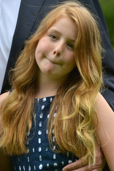 Princess Alexia Posing For The Press Dutch Royal Family