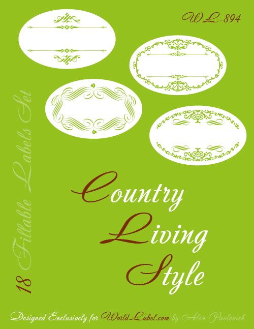 These Free Printable Oval Labels Are Ready To Be Filled With Your Information Fillable And Editable Label Templates Designed Flourishes