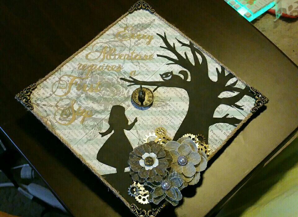 Alice In Wonderland Graduation Cap Graduation Cap Decoration