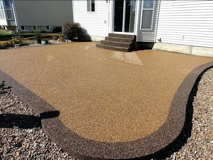 easy to install epoxy pea gravel patio