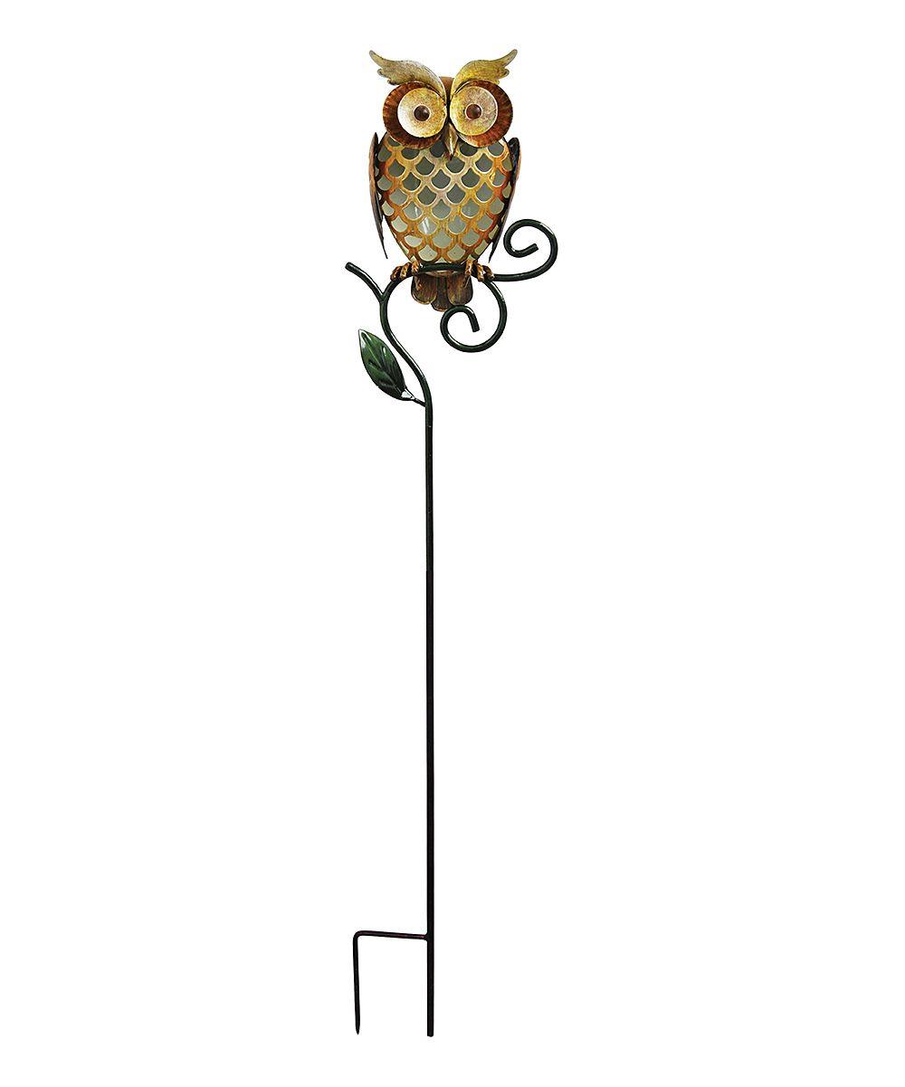 Captivating Gold #Owl Solar Garden Stake