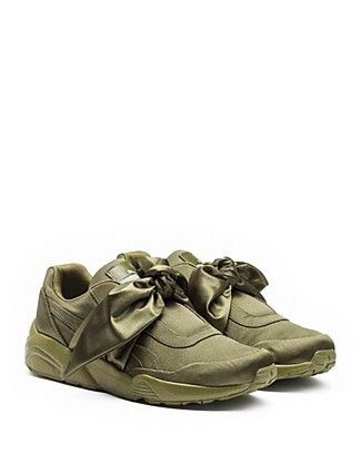 low priced 4ebe4 90a87 FENTY Puma x Rihanna Women's Satin Bow Sneakers ...