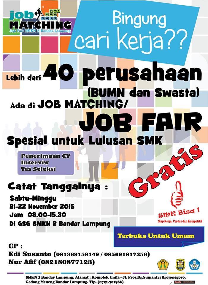 Job Fair SMKN 2 BDL Update Daftar Peserta Perusahaan Job