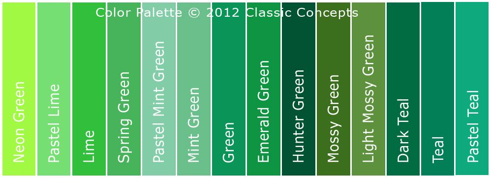 Hunter Green Color Chart Google Search